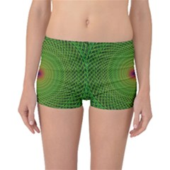 Green Fractal Simple Wire String Boyleg Bikini Bottoms
