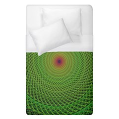 Green Fractal Simple Wire String Duvet Cover (single Size)