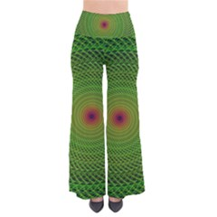 Green Fractal Simple Wire String Pants