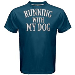 Running With My Dog   Men s Cotton Tee