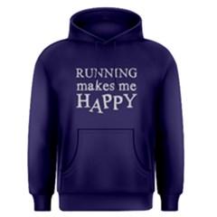 Running Makes Me Happy   Men s Pullover Hoodie