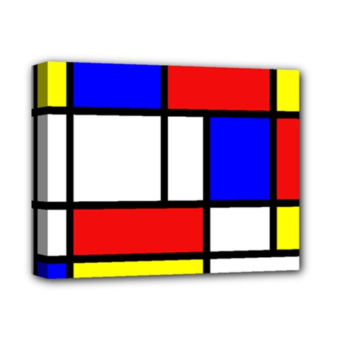 Mondrian Red Blue Yellow Deluxe Canvas 14  X 11