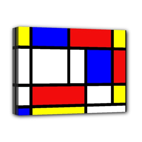 Mondrian Red Blue Yellow Deluxe Canvas 16  X 12