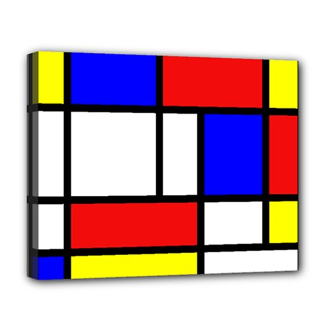 Mondrian Red Blue Yellow Deluxe Canvas 20  X 16