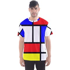 Mondrian Red Blue Yellow Men s Sport Mesh Tee