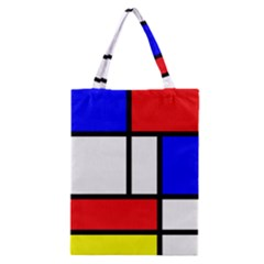 Mondrian Red Blue Yellow Classic Tote Bag