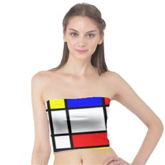 Mondrian Red Blue Yellow Tube Top