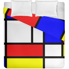 Mondrian Red Blue Yellow Duvet Cover Double Side (king Size)