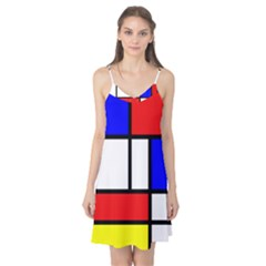 Mondrian Red Blue Yellow Camis Nightgown