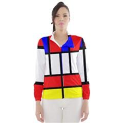 Mondrian Red Blue Yellow Wind Breaker (Women)