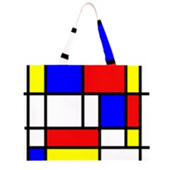 Mondrian Red Blue Yellow Large Tote Bag