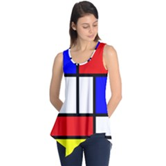 Mondrian Red Blue Yellow Sleeveless Tunic