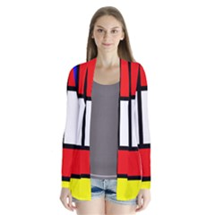 Mondrian Red Blue Yellow Cardigans