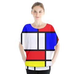 Mondrian Red Blue Yellow Blouse