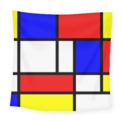 Mondrian Red Blue Yellow Square Tapestry (large)
