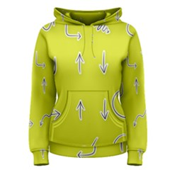Arrow Line Sign Circle Flat Curve Women s Pullover Hoodie