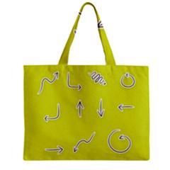 Arrow Line Sign Circle Flat Curve Zipper Mini Tote Bag