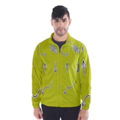 Arrow Line Sign Circle Flat Curve Wind Breaker (men)