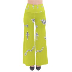 Arrow Line Sign Circle Flat Curve Pants