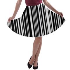 Code Data Digital Register A Line Skater Skirt