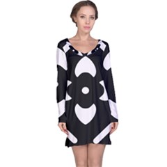 Pattern Background Long Sleeve Nightdress