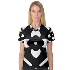 Pattern Background Women s V-Neck Sport Mesh Tee