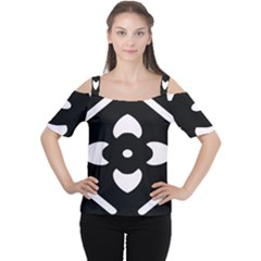 Pattern Background Women s Cutout Shoulder Tee