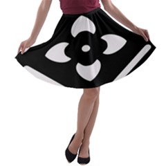 Pattern Background A Line Skater Skirt