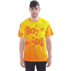 Flowers Floral Design Flora Yellow Men s Sport Mesh Tee