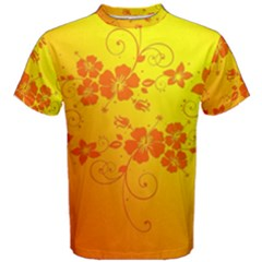 Flowers Floral Design Flora Yellow Men s Cotton Tee