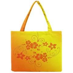 Flowers Floral Design Flora Yellow Mini Tote Bag