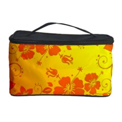 Flowers Floral Design Flora Yellow Cosmetic Storage Case