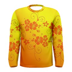 Flowers Floral Design Flora Yellow Men s Long Sleeve Tee