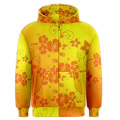 Flowers Floral Design Flora Yellow Men s Zipper Hoodie