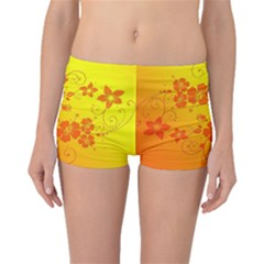 Flowers Floral Design Flora Yellow Boyleg Bikini Bottoms