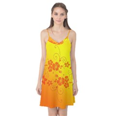 Flowers Floral Design Flora Yellow Camis Nightgown