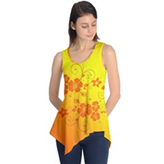 Flowers Floral Design Flora Yellow Sleeveless Tunic