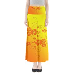 Flowers Floral Design Flora Yellow Maxi Skirts