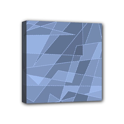 Lines Shapes Pattern Web Creative Mini Canvas 4  X 4