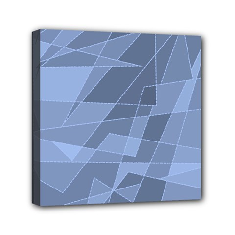 Lines Shapes Pattern Web Creative Mini Canvas 6  X 6