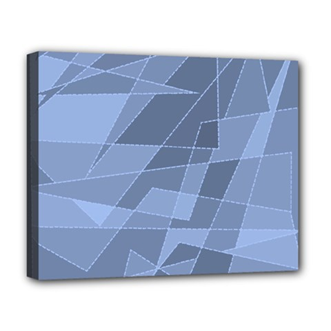 Lines Shapes Pattern Web Creative Deluxe Canvas 20  X 16