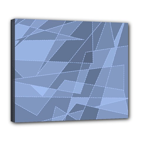 Lines Shapes Pattern Web Creative Deluxe Canvas 24  X 20