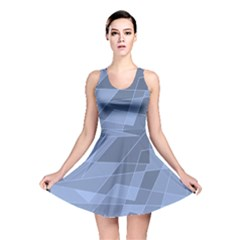 Lines Shapes Pattern Web Creative Reversible Skater Dress