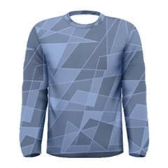 Lines Shapes Pattern Web Creative Men s Long Sleeve Tee