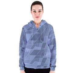 Lines Shapes Pattern Web Creative Women s Zipper Hoodie
