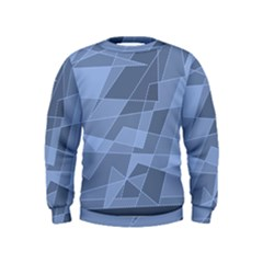 Lines Shapes Pattern Web Creative Kids  Sweatshirt