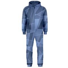 Lines Shapes Pattern Web Creative Hooded Jumpsuit (men)