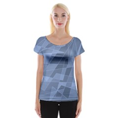 Lines Shapes Pattern Web Creative Women s Cap Sleeve Top