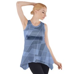 Lines Shapes Pattern Web Creative Side Drop Tank Tunic