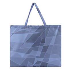 Lines Shapes Pattern Web Creative Zipper Large Tote Bag